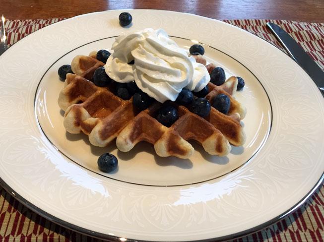 blueberry waffle!